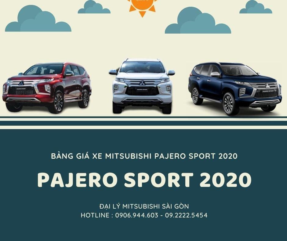 Giá Xe Pajero Sport 2020 Cập Nhật Mới Nhất